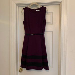 Calvin Klein Ponte Dress with Fitted Waist